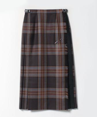 【O'NEIL of DUBLIN(オニール・オブ・ダブリン)】コンビネーションロングキルトスカート