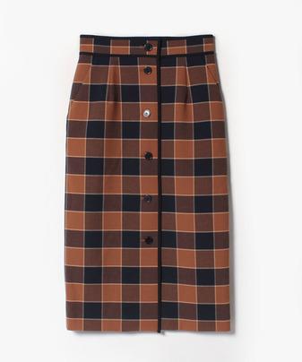 リオペルチェックタイトスカート