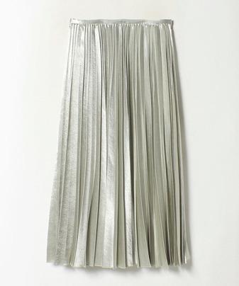 サテンアコーディオンプリーツスカート