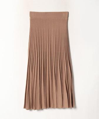 【セットアップ対応商品】【Loulou Willoughby】ウールストレッチプリーツスカート