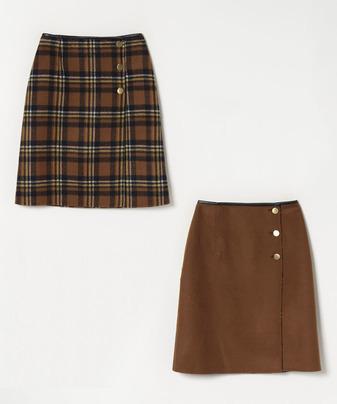 リバーチェック2WAYスカート