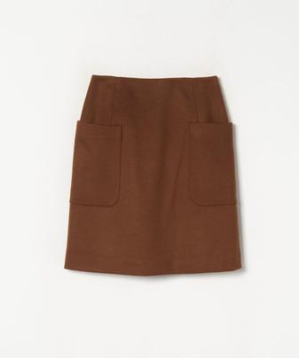 ウールビーバー台形ミニスカート