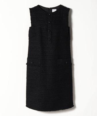 【セットアップ対応商品】【Loulou Willoughby】モールヤーンツイードノースリーブドレス