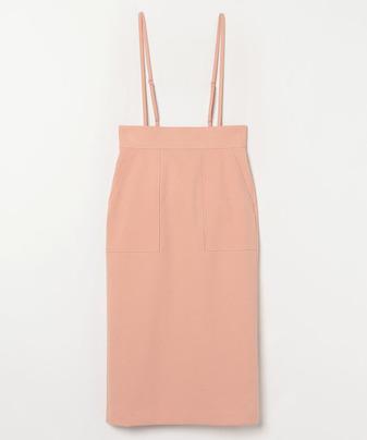ポリエステルツイルサロペットスカート