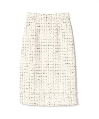 【セットアップ対応商品】【Loulou Willoughby】パステルMIXツイードスカート