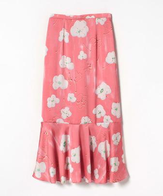【セットアップ対応商品】【Loulou Willoughby】サテンシェイクフラワープリントスカート