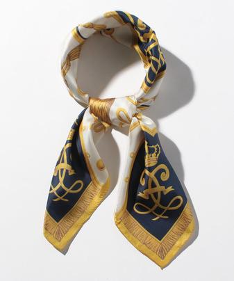 ブレードモチーフシルクスカーフ
