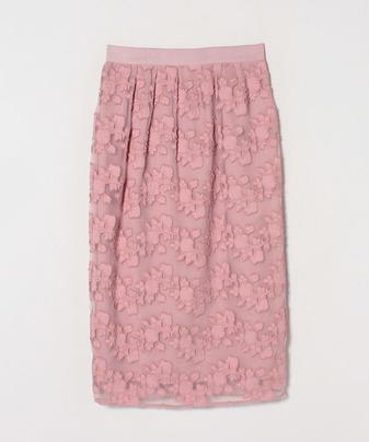 【セットアップ対応商品】オーガンフラワージャガードスカート