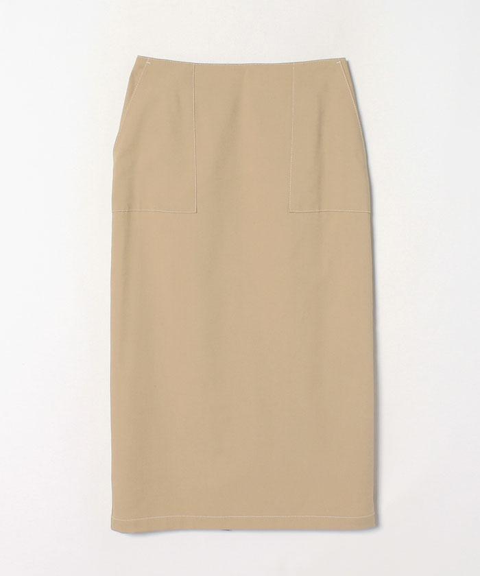 綿麻オックスタイトスカート