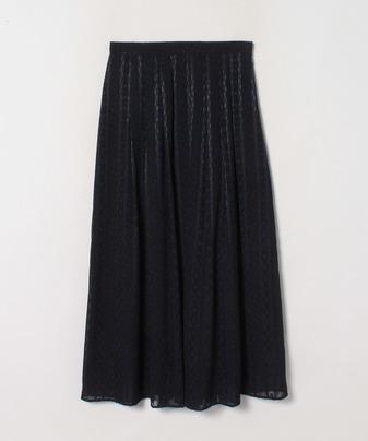 【セットアップ対応商品】【LOULOU WILLOUGHBY】 ストライプカットジャガードスカート