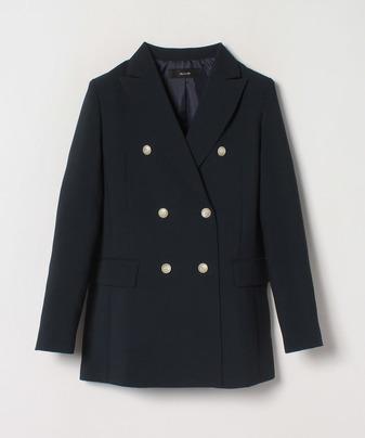 バックサテンダブルブレストジャケット
