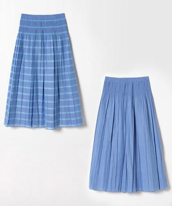 リバーシブルイージープリーツスカート
