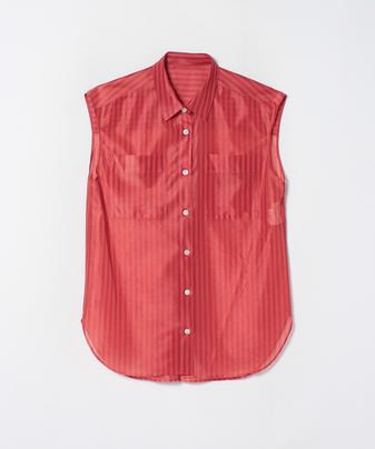 ストライプフレンチスリーブシャツ