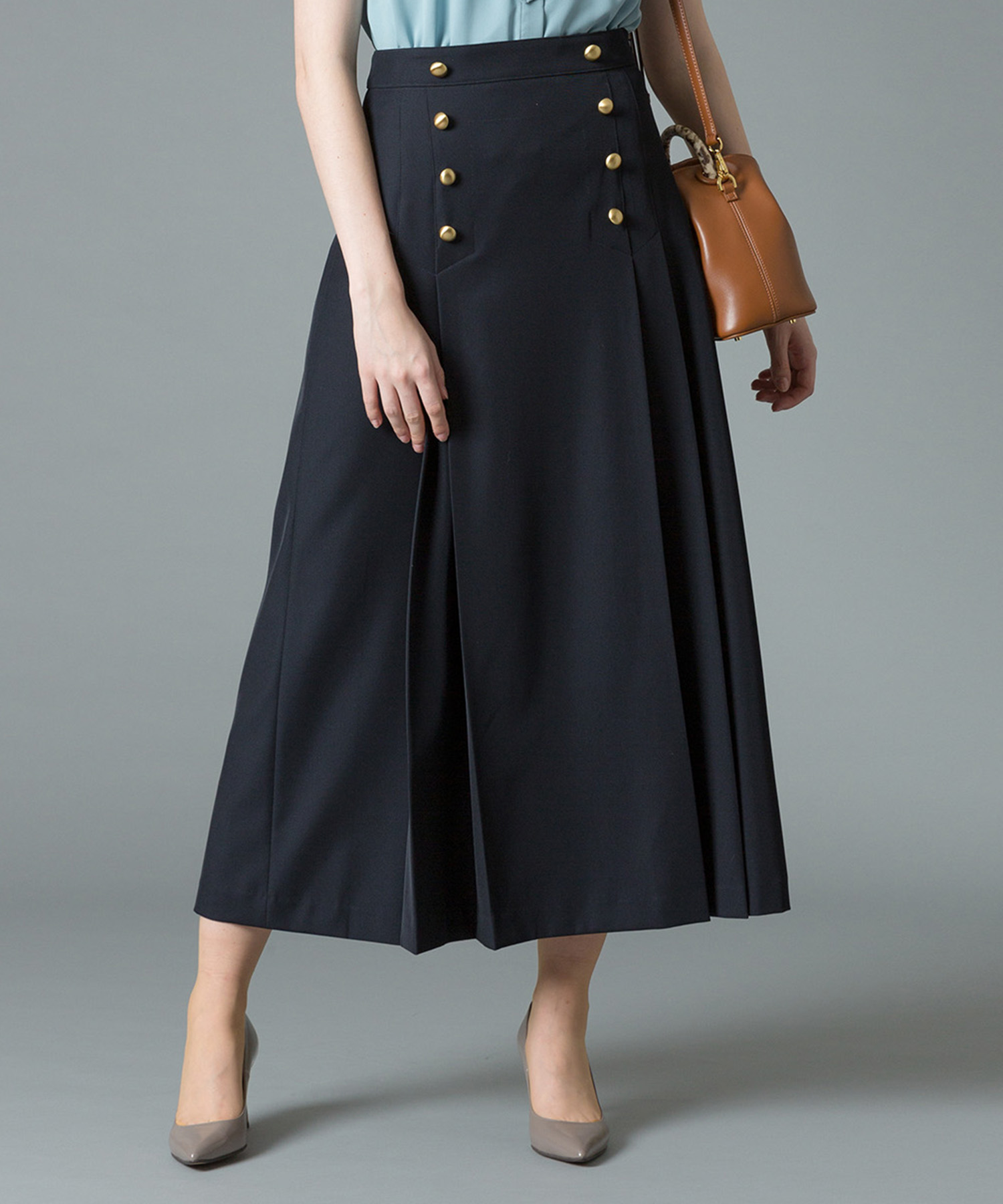 GD釦セーラーラップスカート