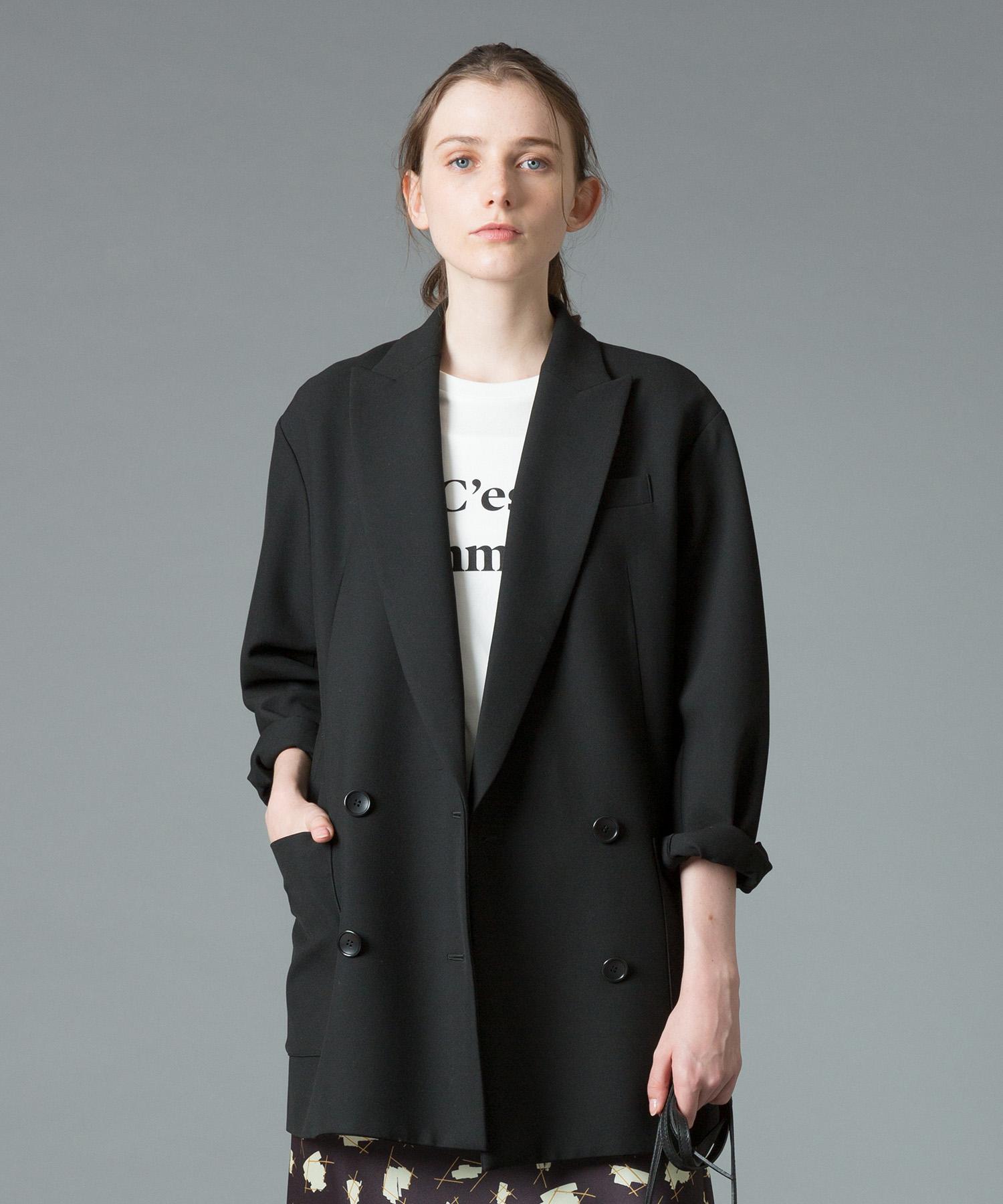 ダブルブレストロングジャケット