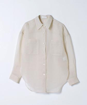 ソフトオーガンジーシアーシャツ