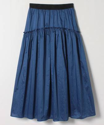 【LOULOU WILLOUGHBY】シャンブレータフタボリュームスカート