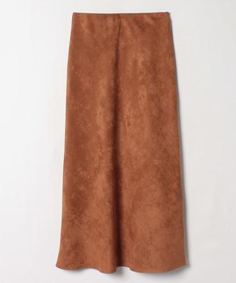 カラーエコスエードナローロングスカート