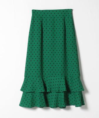 【セットアップ対応商品】【LOULOU WILLOUGHBY】フレアヘムドットスカート