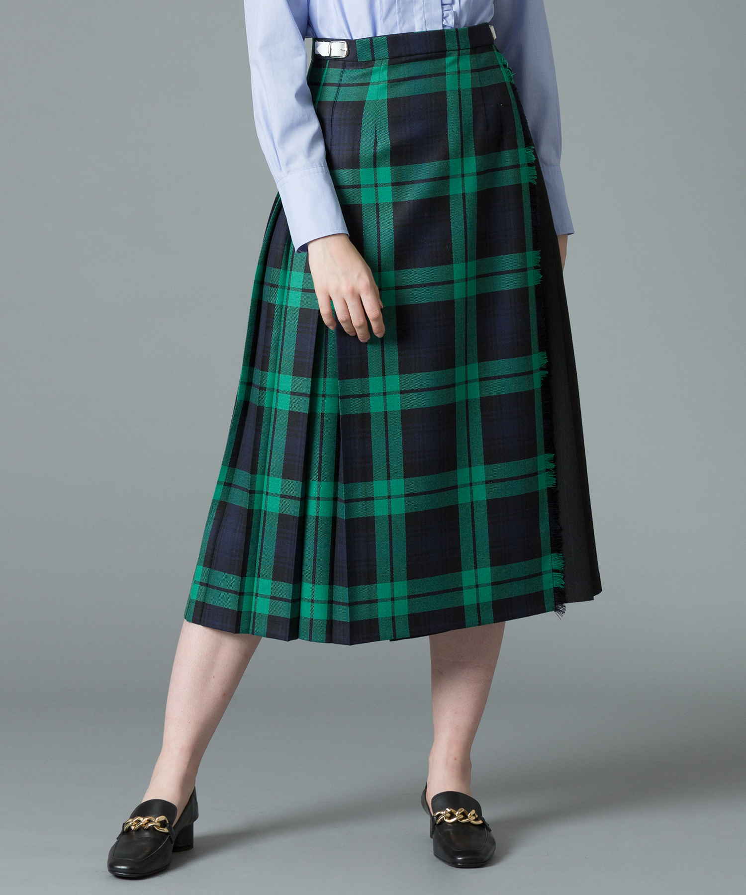 【O'NEIL of DUBLIN(オニールオブダブリン)】COMBINATION LONG KILT SKIRT