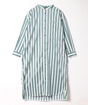 【TICCA(ティッカ)】ノーカラースクエアビッグロングシャツ