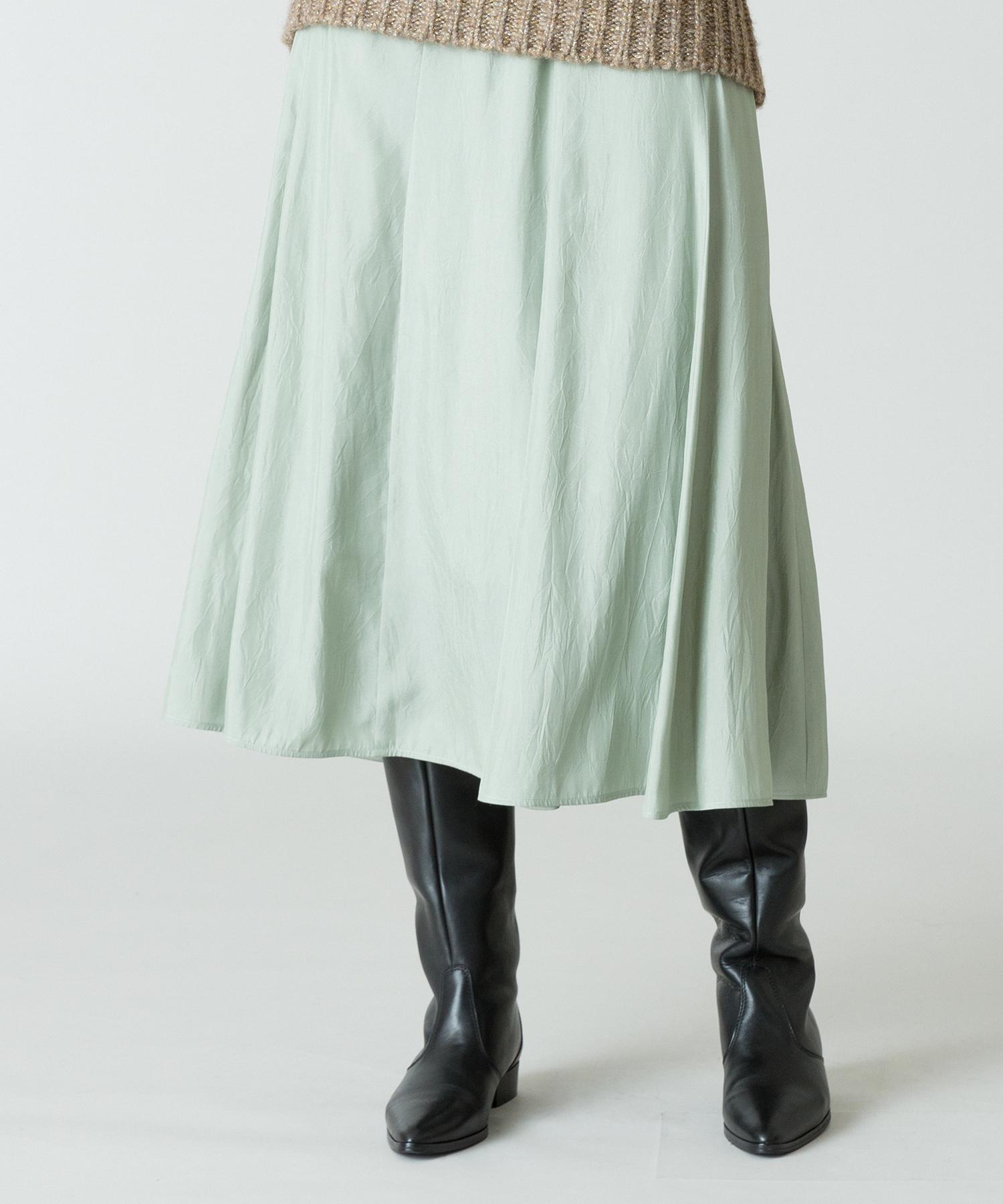シルキーワッシャーサテンマーメイドスカート