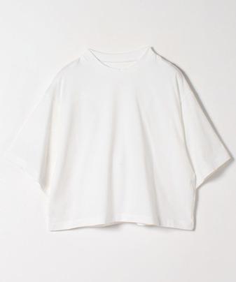 ワイドスリーブハイネックTシャツ