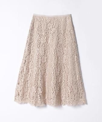 【セットアップ対応商品】【LOULOU WILLOUGHBY】フラワーリバーレーススカート