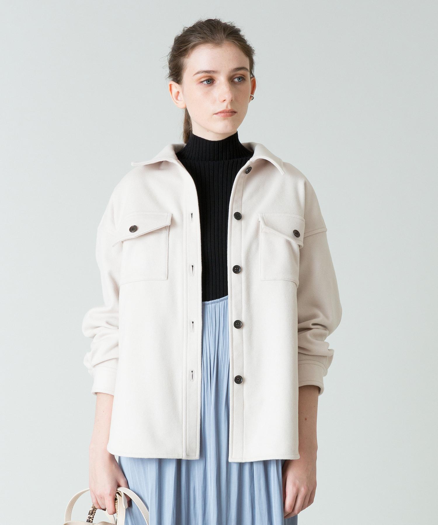 ソフトメルトンシャツジャケット
