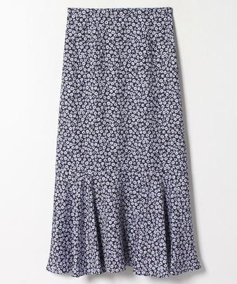 ジャガード小花プリントスカート