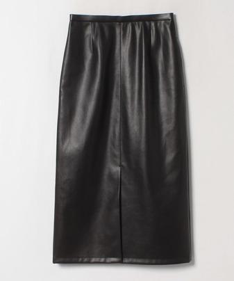 エコレザーフロントベントタイトスカート
