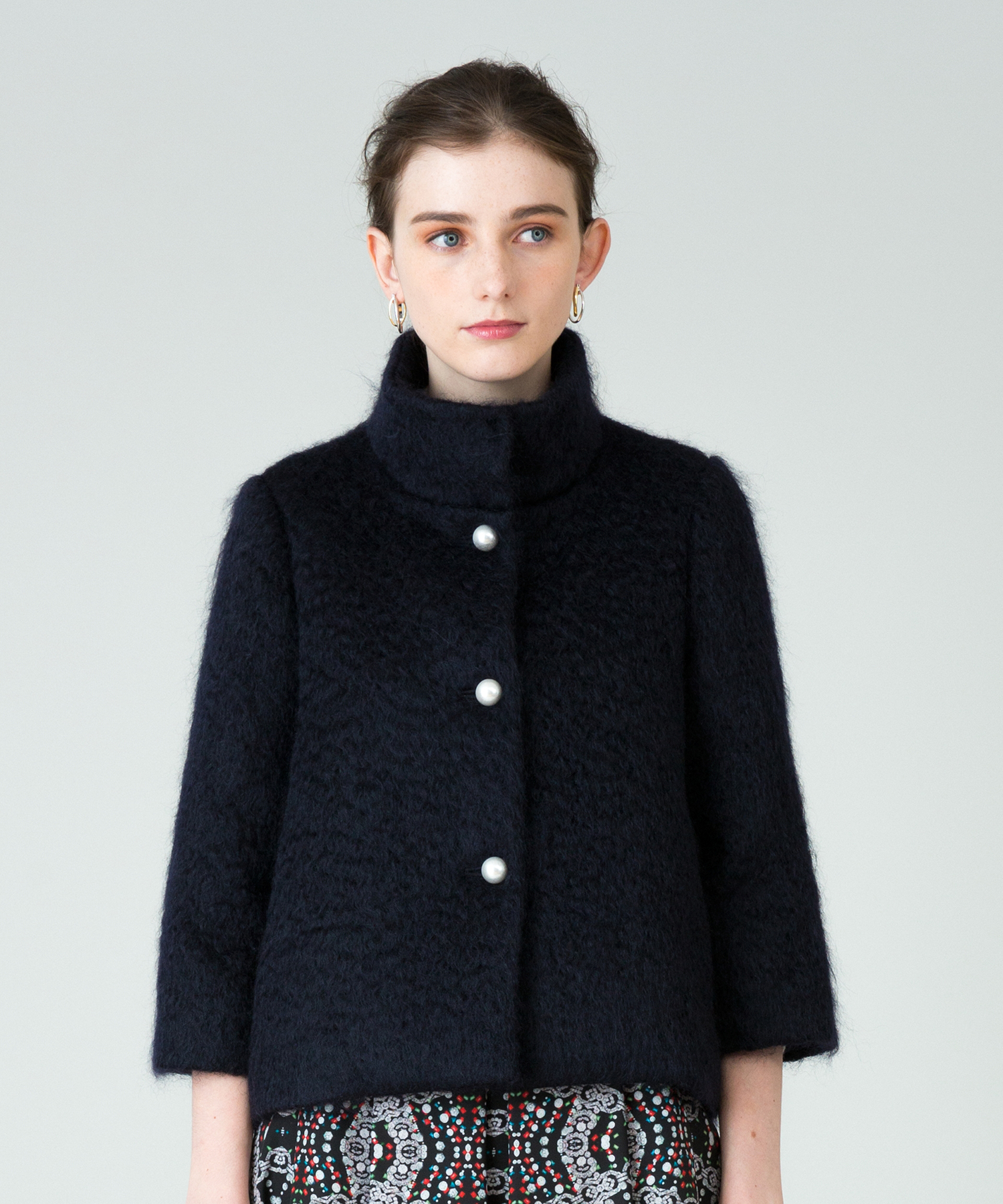 【LOULOU WILLOUGHBY】シャギースタンドショートコート