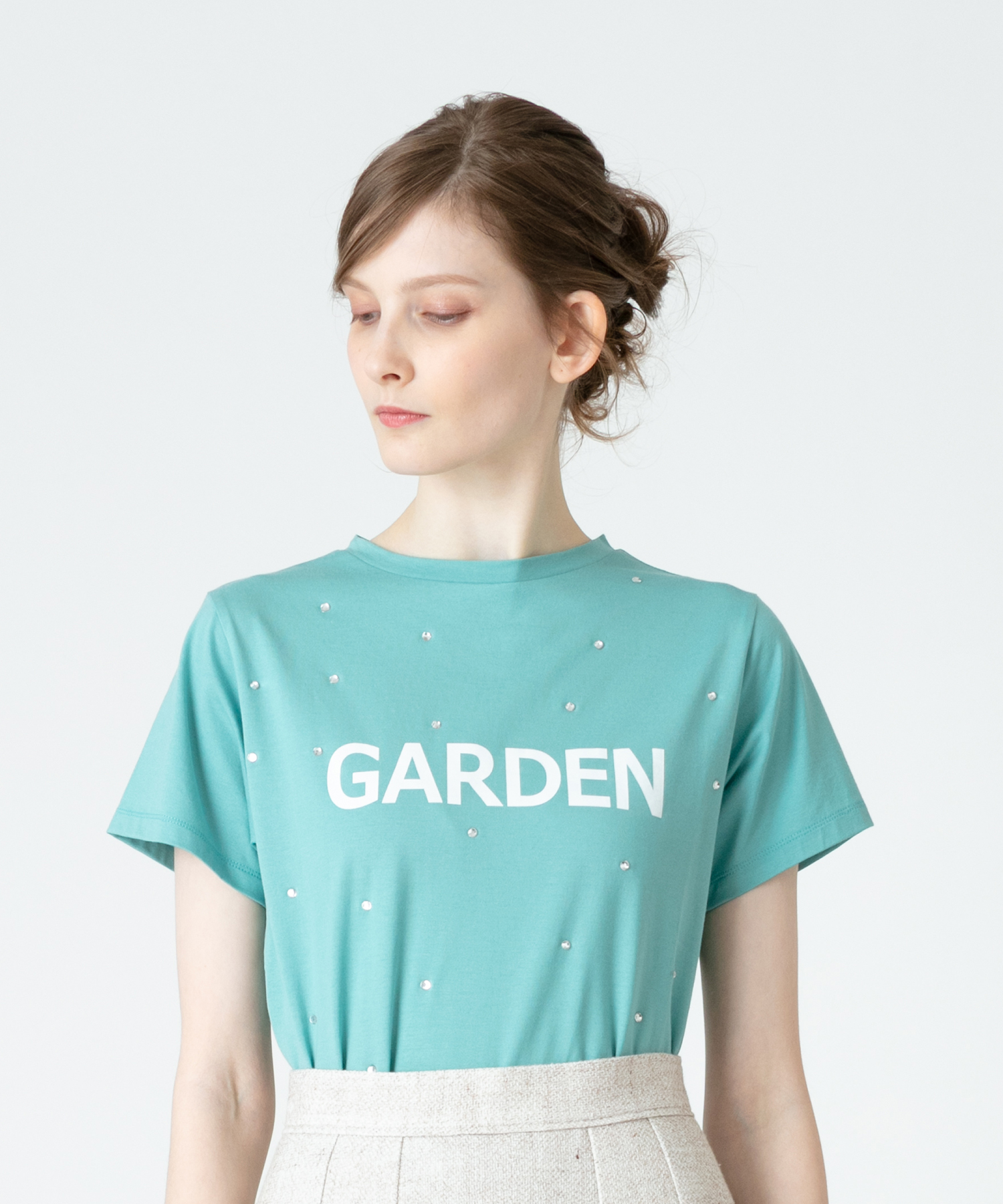 【LOULOU WILLOUGHBY】GARDENビジューT