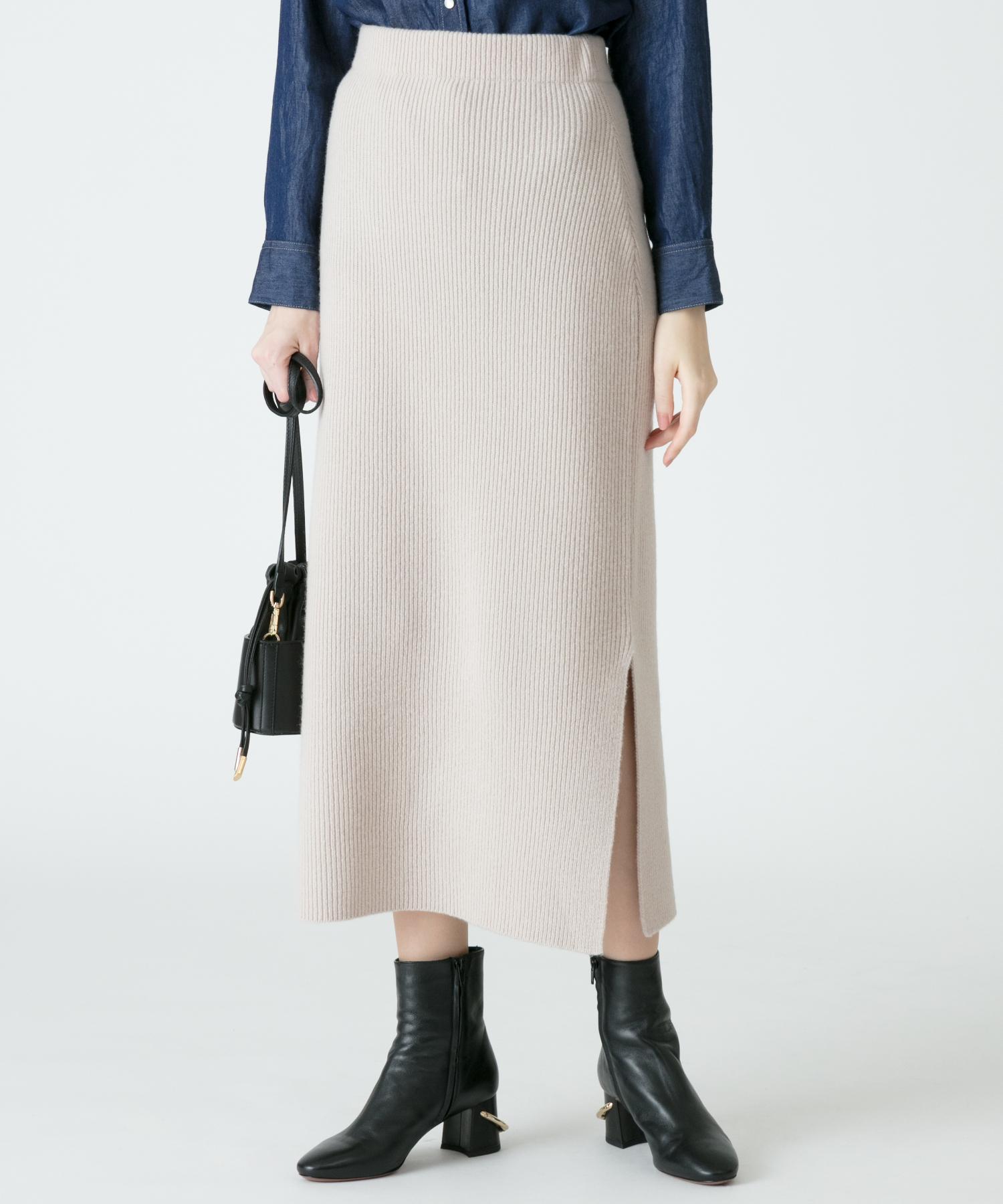 AIRWOOLリブタイトスカート