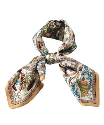 フォークロアモチーフプチシルクスカーフ