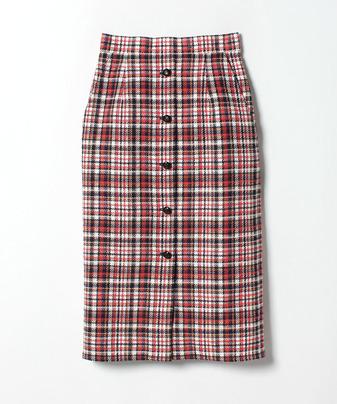 【セットアップ対応商品】マルチカラーチェックAラインスカート
