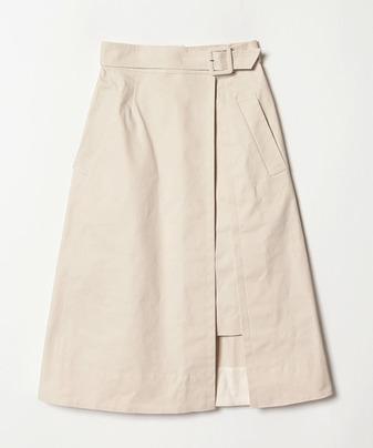 【セットアップ対応商品】オックスレイヤードスカート
