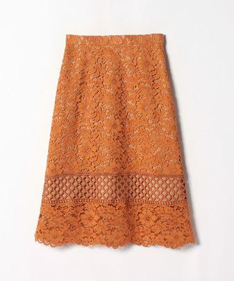 【セットアップ対応商品】カラーコードレースミディスカート