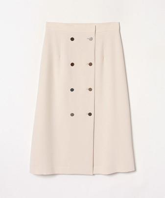 ダブル釦ナロースカート