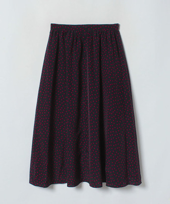 【セットアップ対応商品】デシンドットボタンラップスカート