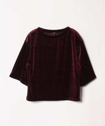ベロアボートネックTシャツ