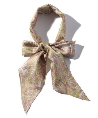 ペイズリーシルクリボンタイスカーフ