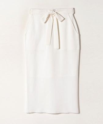 ウールダブルフェイスパッチポケットスカート