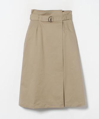 チノストレッチアシメラップスカート