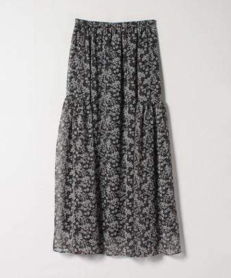 【セットアップ対応商品】レトロフラワーサイドティアードスカート