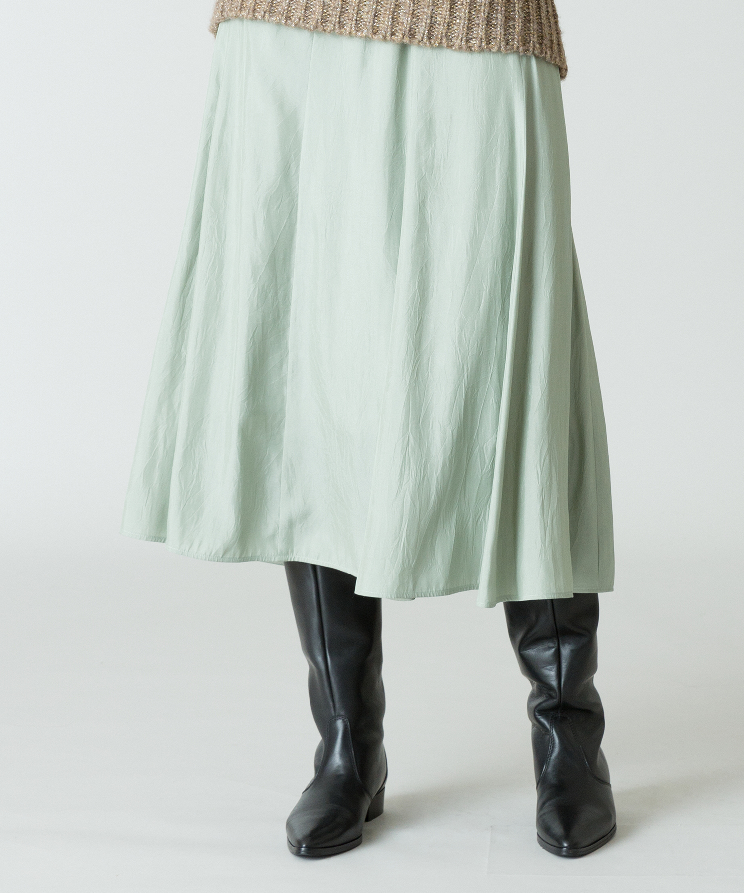 ★シルキーワッシャーサテンマーメイドスカート