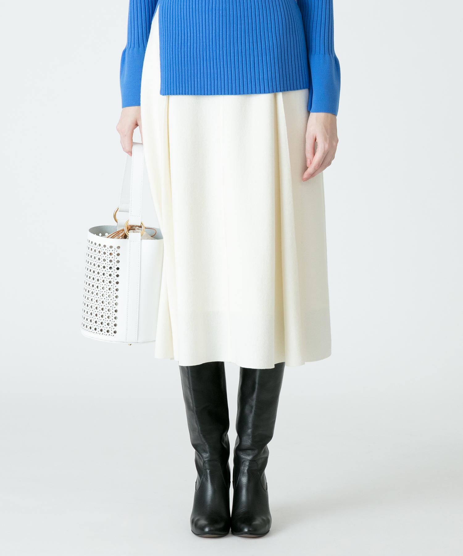 ツイルジャージカラースカート