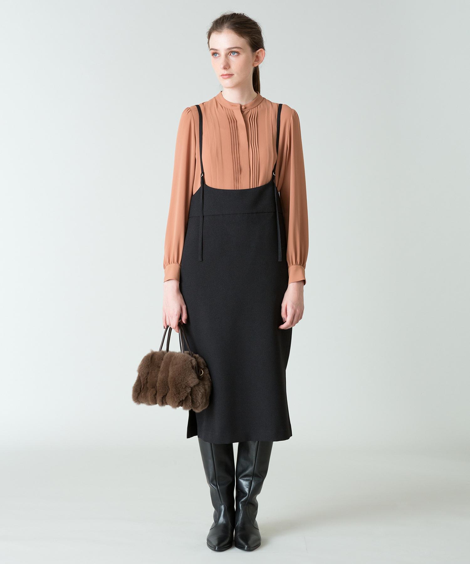 サロペットナロースカート