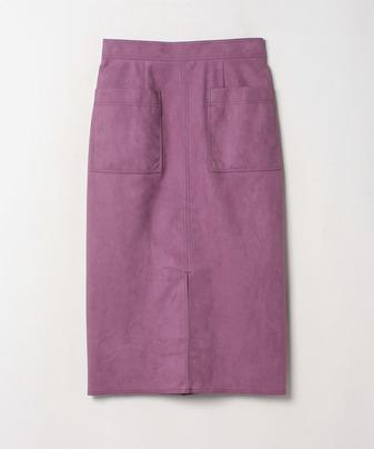 スエードタイトスカート