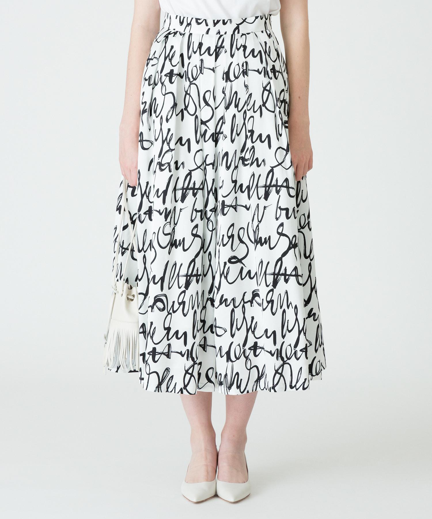 グラフィティプリントタックスウィングスカート